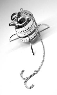 Silver tea bug infuser